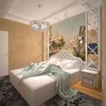 Зеркала в оформлении спальни без окон