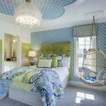 Комната в голубом цвете