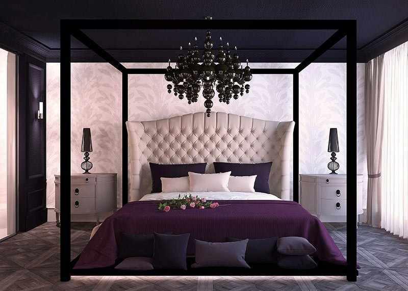 Кровать с подсветкой в интерьере