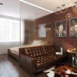 Спальня-гостиная в стиле модерн