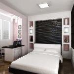 Дизайн стены в изголовья кровати