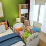 Детская кроватка в квартире