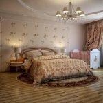 Спальня в классическом стиле с детской кроваткой