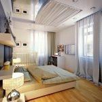 Современная спальня с кроваткой