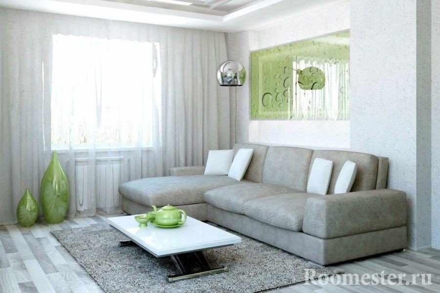 Спальня-гостиная с угловым выдвижным диваном