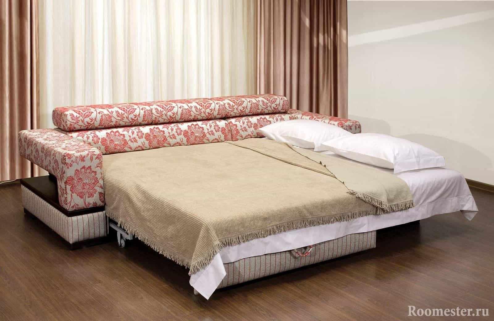 Выдвижной диван с двумя спальными местами