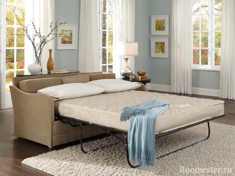 Раскладной диван с механизмом и ортопедическим матрасом