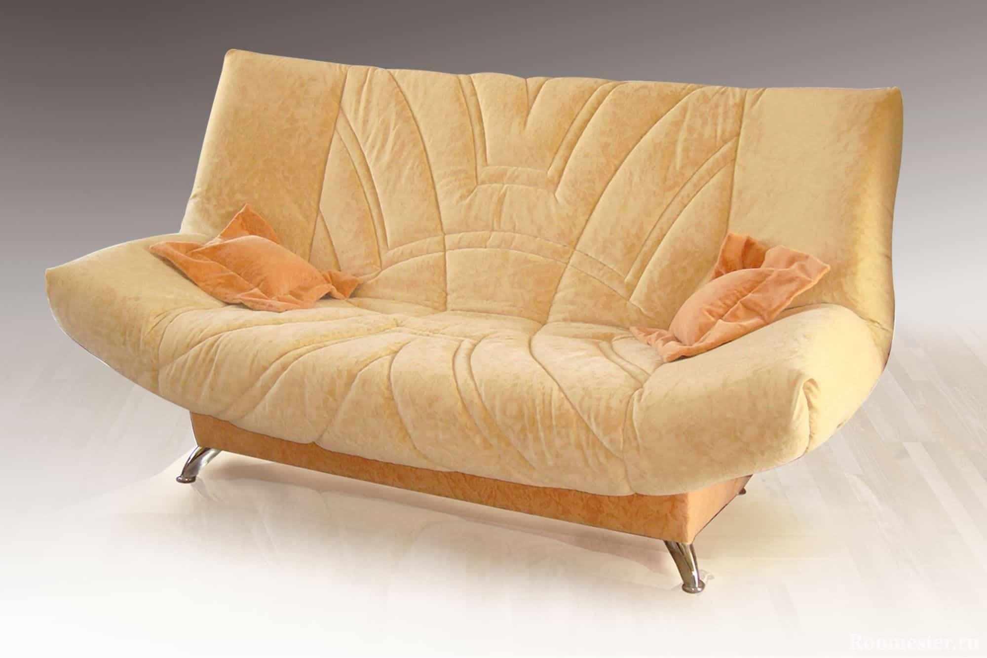 Раскладной диван в ткани с механизмом клик-кляк