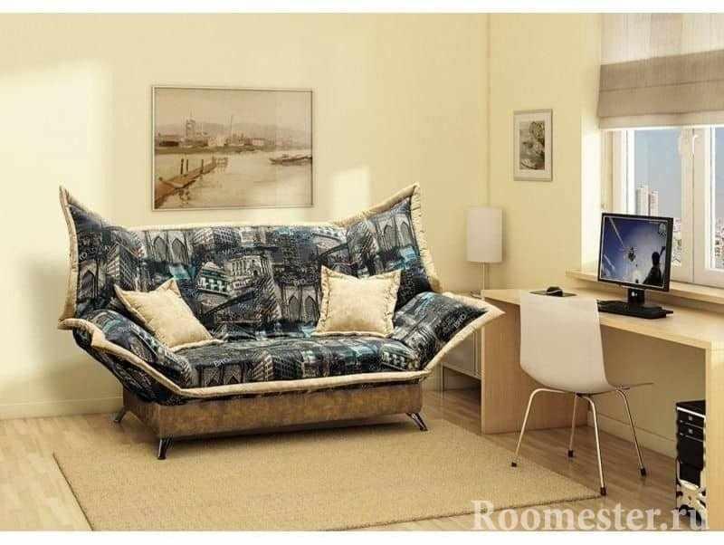 Кабинет со спальным местом и диваном клик-кляк