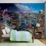 Яркие фотообои для спальни