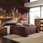 Фотообои для спальни в шоколадных тонах