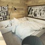 Подборка фото на стене у кровати