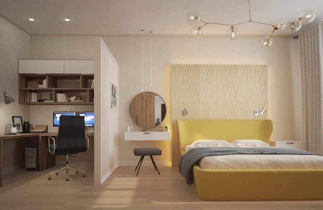 Перегородка между спальней и кабинетом