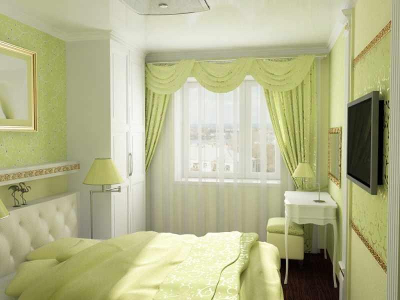 Освещение лампами в спальне в хрущевке