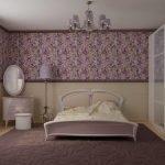 Светлая мебель в спальне в хрущевке
