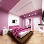 Оригинальная подсветка в спальне