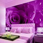 Красивые фотообои в изголовье кровати