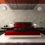 Подвесные люстры в спальне