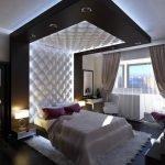 Мебель в спальне в стиле хай-тек
