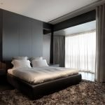 Спальня с интерьером в стиле хай-тек