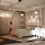 Белая тумбочка у кровати