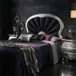 Серебристая мебель в спальне