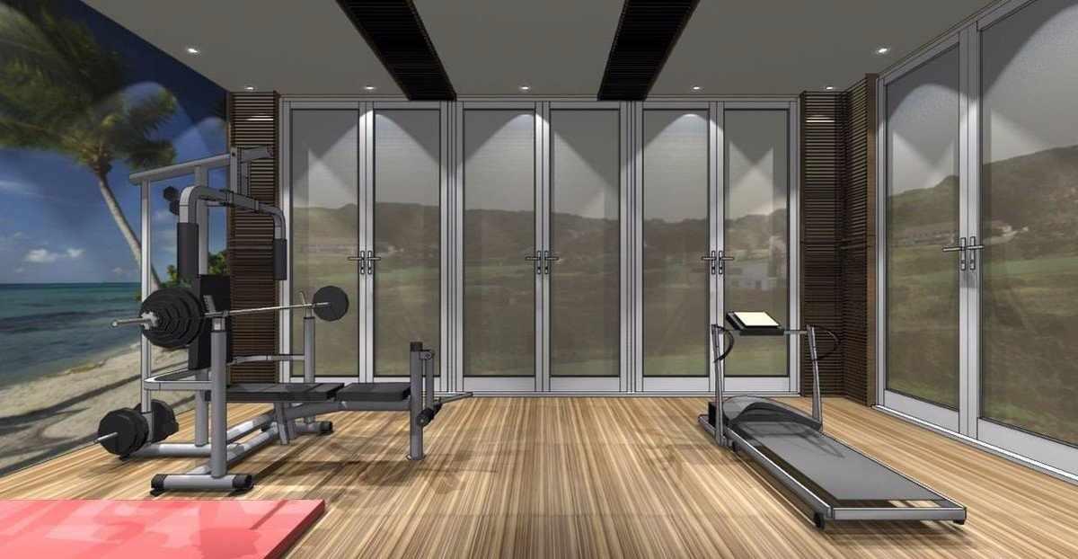 Дизайн проект домашнего спортивного зала