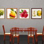 Картины с фруктами на стене
