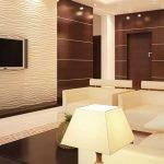 Бежевый и коричневый в интерьере гостиной