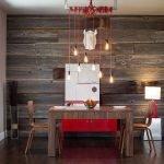Древесина в дизайне столовой