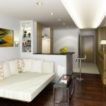 Вариант освещения однокомнатной квартиры
