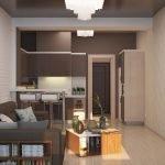 Напольная лампа у дивана