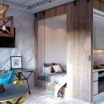 Спальня за кухонной зоной