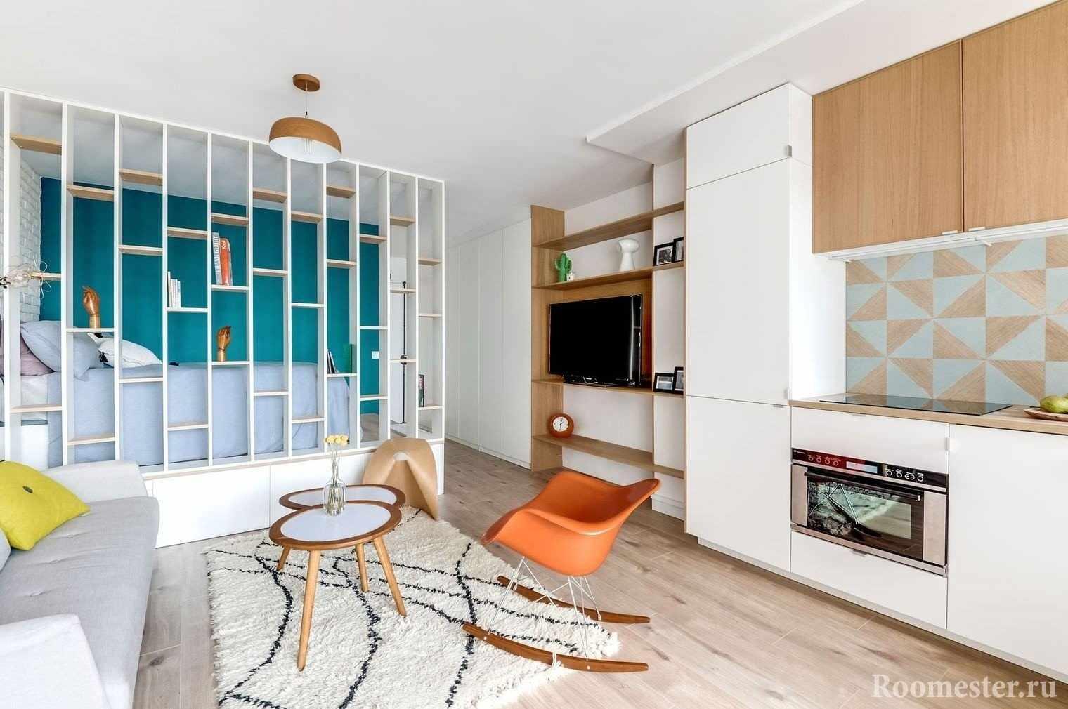 Дизайн студии 25 кв м