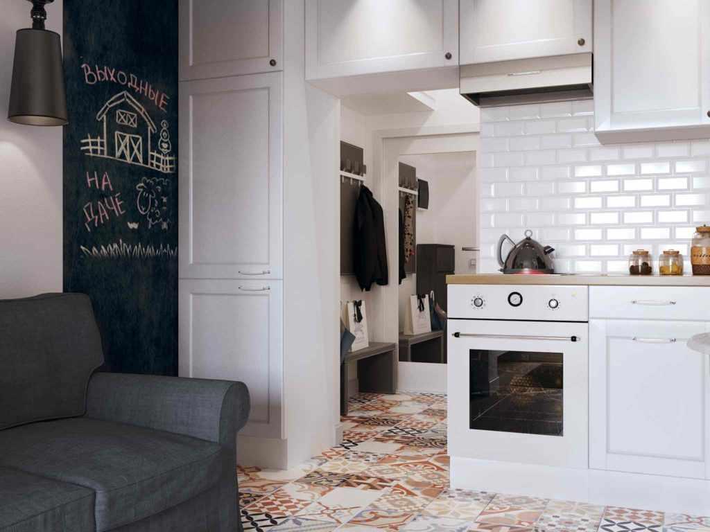 Светлая мебель в интерьере квартиры-студии 26 кв м