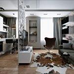 Резная перегородка между кухней и гостиной