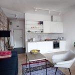 Квартира-студия 26 кв м в стиле минимализм