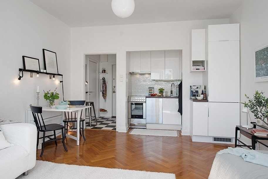 Квартира-студия 26 кв м в скандинавском стиле