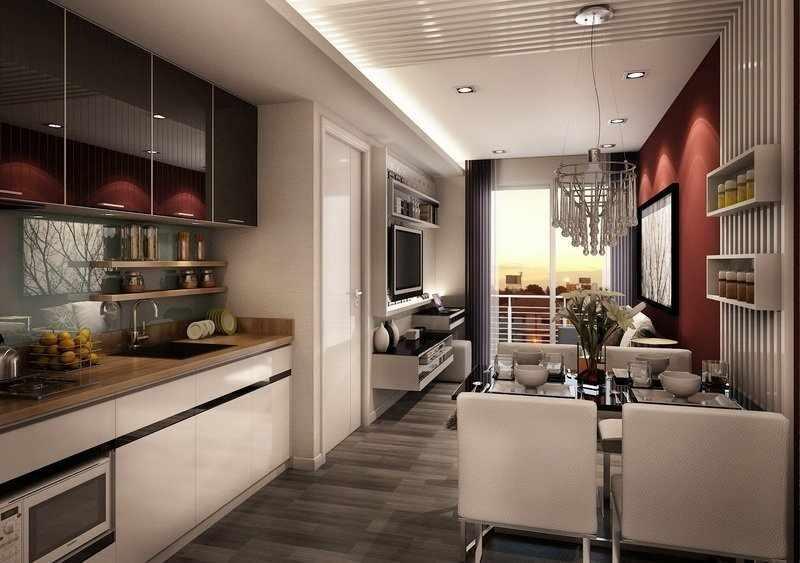 Освещение в квартире-студии 26 кв м