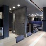 Темные стены на кухне
