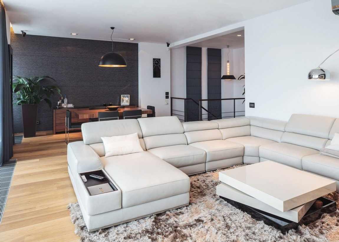 Сочетание черного и белого в дизайне трехкомнатной квартиры