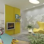 Желтые элементы в интерьере квартиры