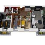 Вариант 3D дизайн-проекта трехкомнатной квартиры 80 кв. м