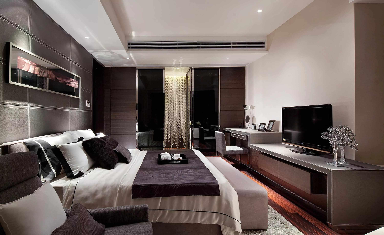 Вариант дизайна спальни в трехкомнатной квартире
