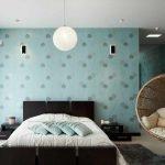 Бирюзовый в дизайне спальни
