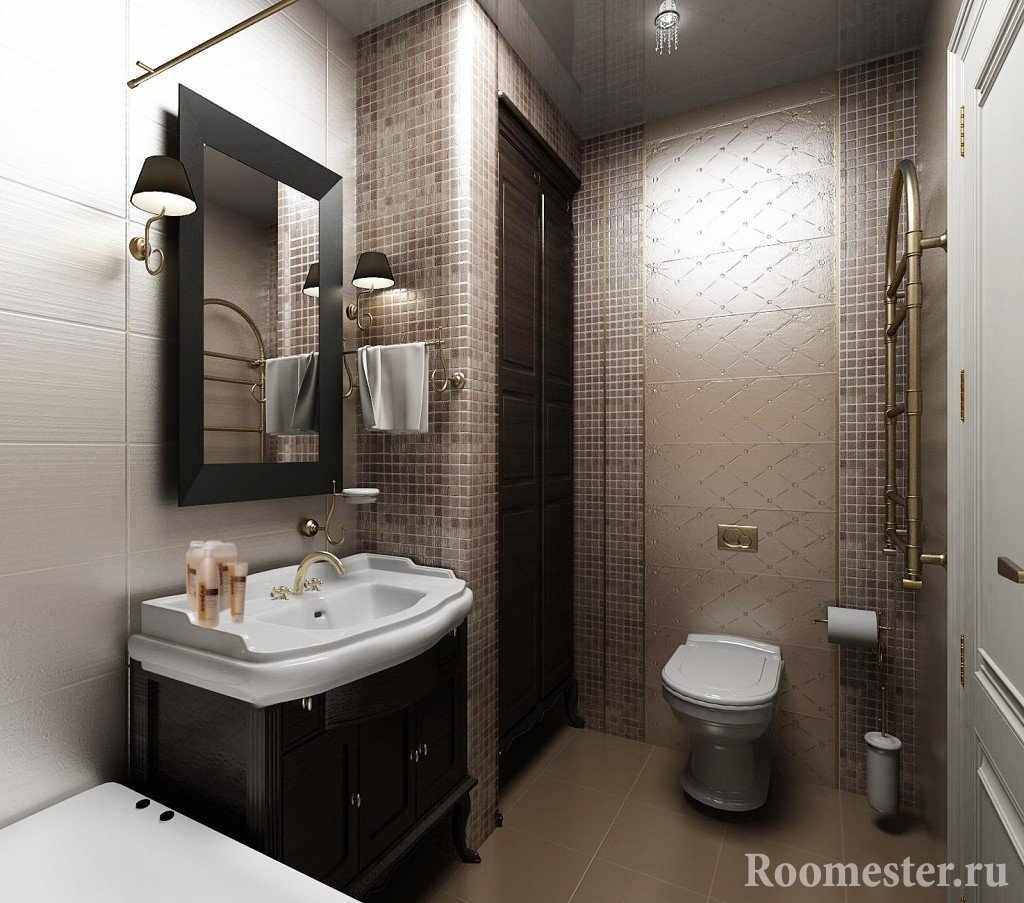 Просторный объединенный туалет