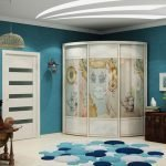 Голубой декор комнаты