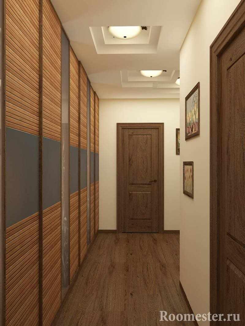 Прихожая с узким и длинным коридором