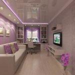 Светодиодная подсветка на потолке