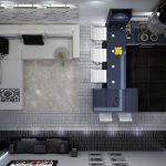 Зонирование узких комнат
